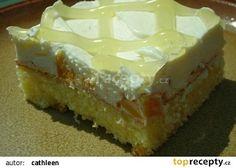 Jogurtovo - šlehačkový zákusek recept - TopRecepty.cz Vanilla Cake, Cheesecake, Food And Drink, Brownies, Cake Brownies, Cheesecakes, Cherry Cheesecake Shooters