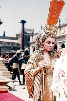 """ Elizabeth Taylor filming Cleopatra (1963) ""                                                                                                                                                      Plus"