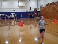 (fitness activity) Divide your class into groups of three and make sure each group has a hula hoop with three cones inside of it Only one individual f. Physical Education Activities, Elementary Physical Education, Health And Physical Education, Youth Activities, Fitness Activities, Fitness Games, Kids Fitness, Baby Education, Pe Games Elementary