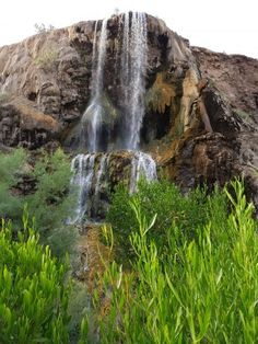 Waterfall at Evason Hot Springs in Jordan. One of the most beautiful waterfall seen in #Jordan. A Must do!