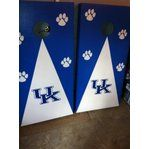 University of Kentucky U.K. with Traditional Decal and Paw Prints, New Cornhole Board Set Bean Bag Toss Game