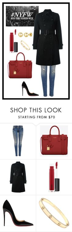 """""""Inverted Triangle Shape- Classic"""" by jess-thomas14 on Polyvore featuring Yves Saint Laurent, Burberry, John Lewis, Christian Louboutin, Cartier and BERRICLE"""