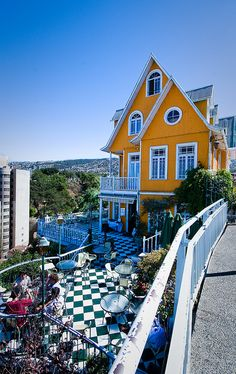 One of the best places to hang out and have a drink while in Valparaiso!