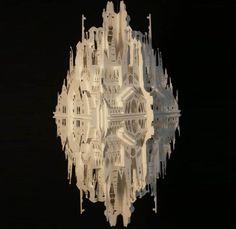"""坂井直樹の""""デザインの深読み"""": 紙の建築、坂さんの様に実際に紙を用いた建築ではなく、紙の彫刻です。                                                                                                                                                      もっと見る"""