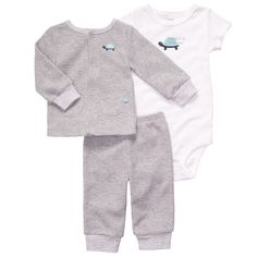 """Carter's Boys """"Daddy's Little Guy"""" 3 Piece Set with Cardigan, Bodysuit and Pant…"""
