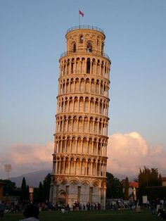 The leaning Tower of Pisa. Rome, Italy