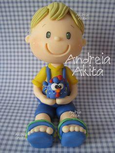 12/03 - Topo de bolo personalizado ! Obrigada a Mamãe Silvia Calvano - Rio de Janeiro !! by Andreia Akita, via Flickr