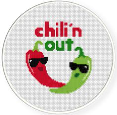 INSTANT DOWNLOAD Stitch Chili'n Out PDF Cross by DailyCrossStitch