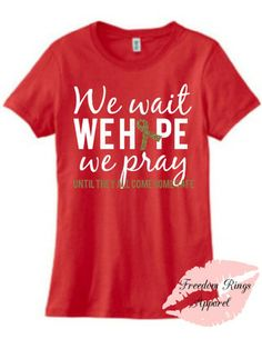 Looking for a good RED Friday tee? We have lots of red Friday items to offer at freedomringsapparel.com!