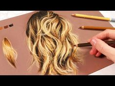 How to Draw Hair with Pastel Pencils Pastel Pencils, Coloured Pencils, Art Drawings Beautiful, Colorful Drawings, Pastel Drawing, Drawing Hair, Drawing Faces, Perspective Drawing Lessons, Painting Courses