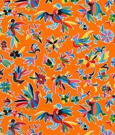 Orange Aztec Oilcloth Fabric - by the Yard Online Fabric Store http://www.amazon.com/dp/B00I80H1CO/ref=cm_sw_r_pi_dp_fBrgub0M37ESF