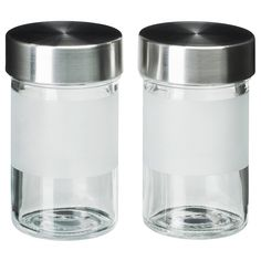 DROPPAR Tarro para especias, vidrio esmerilado, ac inox.