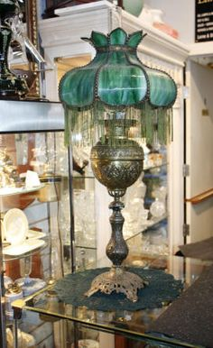Bradley & Hubbard c. 1890s banquet lamp; Hooked on Victorian Lamps