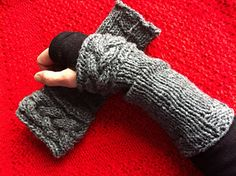 Inspired by one of the pairs of wrist warmers that are worn by the character…
