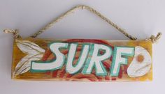 Surf Sign Surf Decor Wood Beach Sign Distressed Wood by MangoSeed, $25.00