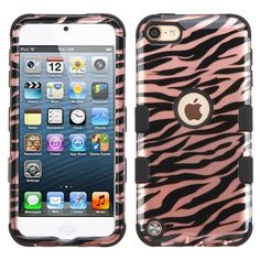 MYBAT TUFF Apple iPod Touch 5G/6G Case - Zebra/Rose Gold - MyPhoneCase.com - 1 Iphone Wallet Case, Iphone Case Covers, Ipod Touch 6th Generation, Iphone Cases Disney, Ipod 5, Rose Gold, Apple, Products, Apples