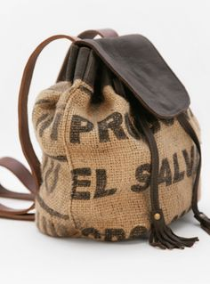 1d571fd8d788 Rivington Eco Rucksack by Lost Property of London. £ 185.00 Burlap Coffee  Bags