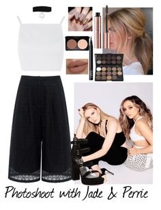 """""""Photoshoot with Jade and Perrie"""" by moansforlilo ❤ liked on Polyvore featuring Topshop, Edit, NARS Cosmetics, Stuart Weitzman, littlemix, blackandwhite, jadethirlwall, perrieedwards and photoshoot"""