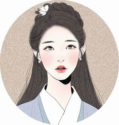 "Incredibly beautiful fan art of IU (아이유). Drawing is of her as Hae Soo/Go Ha-jin from the K- drama, ""Moon Lovers: Scarlet Heart Ryeo"". Cartoon Kunst, Cartoon Art, Korean Art, Asian Art, Korean Drama, Drawn Art, Kpop Fanart, Anime Art Girl, Chinese Art"