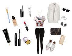 """Salida de noche #2"" by mafecastilloescobar on Polyvore featuring moda, Current/Elliott, Topshop, Chanel, Converse, Michael Kors, MAC Cosmetics y Bobbi Brown Cosmetics"