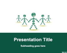 Staff PowerPoint Template is a green template with avatars and stick men that was intended to be used for business staff presentations as well as job interviews or school of business