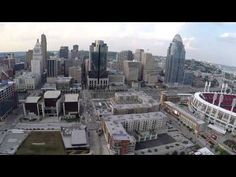 """Cincinnati, """"The Queen City"""", nestled on the banks of the Ohio River with its impressive downtown skyline with Great American Ballpark & Paul Brown Stadium.  Shot by Tampa Photographer http://celebrationsoftampabay.com/"""