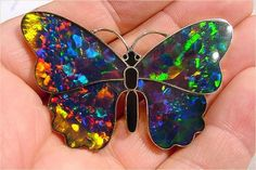 - * Opal Inlay Butterfly * - Artists : Dick and Flora Milliron - Silver Quail Studio - image : R Weller / Cochise College -