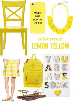 June Color Trend: Lemon Yellow // Twin Stripe