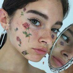 girl, aesthetic, and rose image Makeup Goals, Makeup Inspo, Makeup Art, Makeup Inspiration, Beauty Makeup, Hair Makeup, Makeup Style, Makeup Eyes, Hair Beauty
