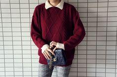 Knit, Plaid Pants