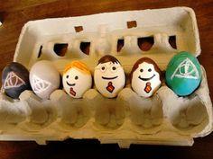 My Harry Potter Easter eggs! Easter Egg Competition Ideas, Harry Potter Easter Eggs, Easter Egg Hunt Clues, Easter Bunny, Easter Bonnets, Egg Decorating, Crafty, Board, Inspiration