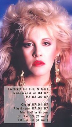 Stevie Nicks 1987 | stevie-nicks.net Stevie Nicks Quotes, Tango In The Night, Fleetwood Mac, Her Music, Rock And Roll, Most Beautiful, Image, Star, Woman