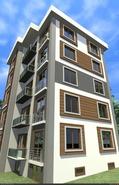 Building Elevation, House Elevation, Building Facade, Building Design, Building Front, Facade Design, Exterior Design, House Design, Interior Design Your Home