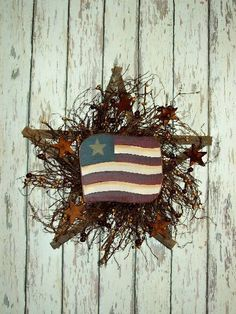 Primitive Lath Americana Wreath