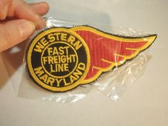 Western Maryland Fast Freight Line WM Logo Train Sew On Patch  picclick.com