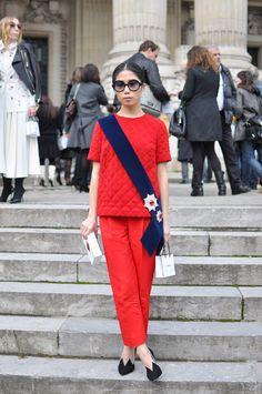(via Oksana On in Red, Paris | TrendycrewTrendycrew)