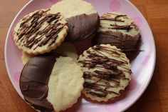 Chocolate Dipped Shortbread Cookies   from DelectableDarlings.com
