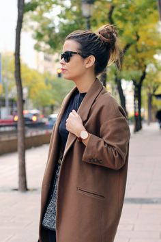 Oversize coat for fall