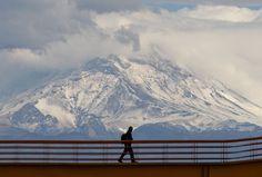 Volcan Popocatepetl nevado, Cd. de Mexico