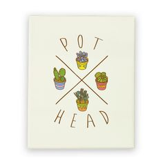 Show off your love and pride in your wonderful plant babies with this proud plant mom/dad, succulent plant lover's, cactus enthusiast's, plant and weed pun canvas print!