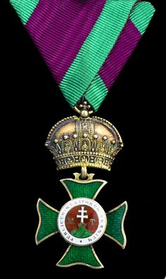 AUSTRIA (Empire) - Royal Hungarian Order of St. Stephen, breast Badge, 56mm including crown suspension x 31mm, silver-gilt and enamel