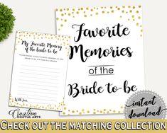 Favorite Memories Bridal Shower Favorite Memories Confetti Bridal Shower Favorite Memories Bridal Shower Confetti Favorite Memories CZXE5 #bridalshower #bride-to-be #bridetobe