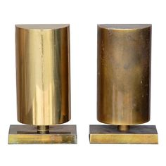 Pair of brass mantel lamps / sconces by Chapman
