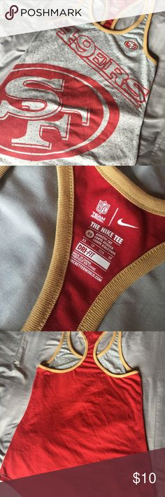 San Francisco 49ers tank XS San Francisco 49ers Nike Tank. Never used. Given as a present. Nike Tops Tank Tops