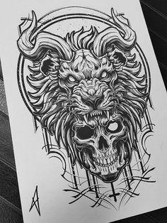 Skull Tattoo Design, Tattoo Design Drawings, Skull Tattoos, Leg Tattoos, Body Art Tattoos, Tattoos For Guys, Sleeve Tattoos, Tattoo Designs, Chest Tattoo Drawings