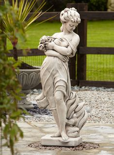 Exceptional Adele Rose Stone Figurine Sculpture   Large Garden Statue. Buy Now At Http:/