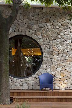 stone + circular window