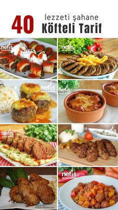 Meatball dishes list is at your disposal with 40 different varieties! Misket meatballs, mother meatballs, Izmir, Hasanpasa and many more meatball recipes illustrated illustrations. Meatball Recipes, Pizza Recipes, Casserole Recipes, New Recipes, Snack Recipes, Turkish Kitchen, Tasty, Yummy Food, Iftar