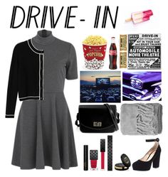 """""""Drive-In Theater"""" by fleu-fou ❤ liked on Polyvore featuring Nümph, Monki, Gianvito Rossi, West Bend, Gucci, H&M, DateNight, drivein and summerdate"""
