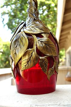 Red Glass Gold VinesClose Up | Flickr - Photo Sharing!